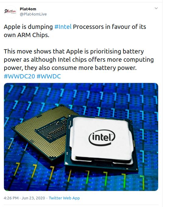Intel Battery Power