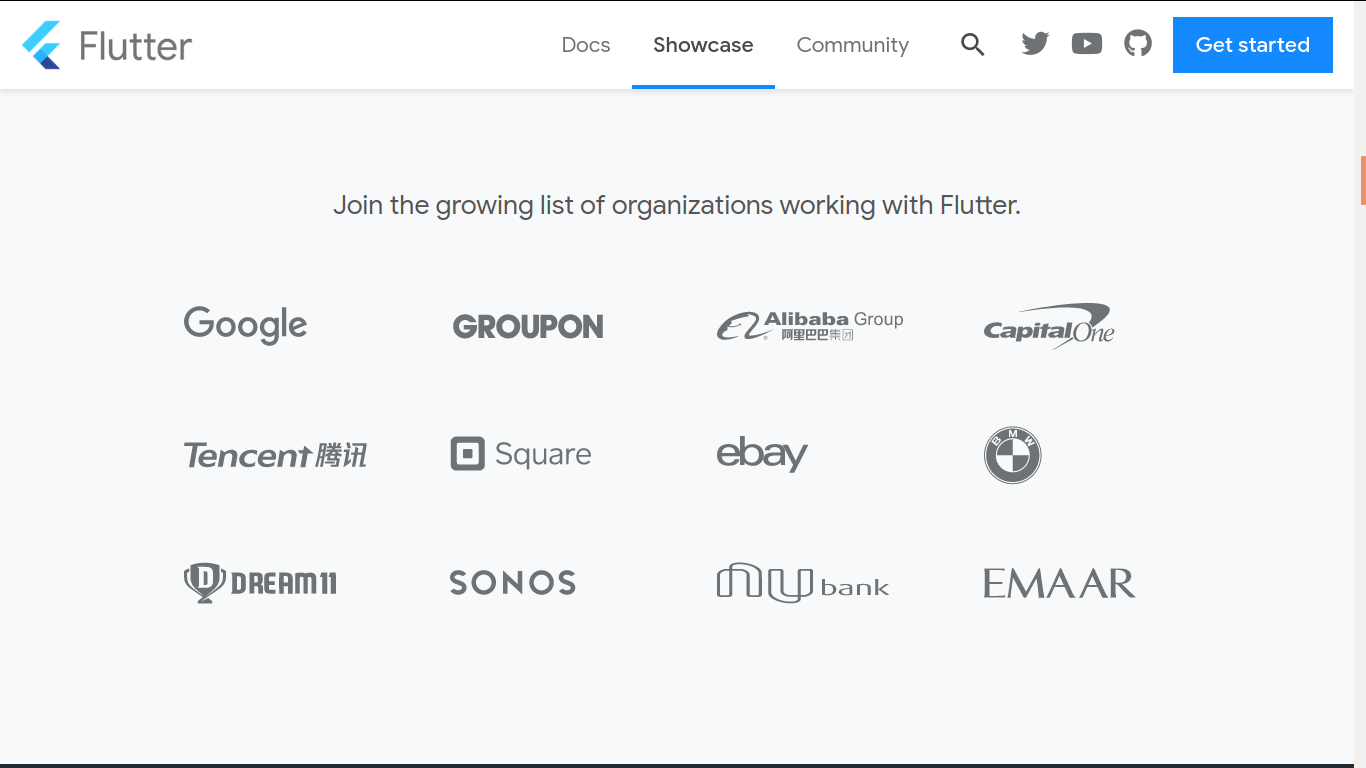 Organizations building with Flutter