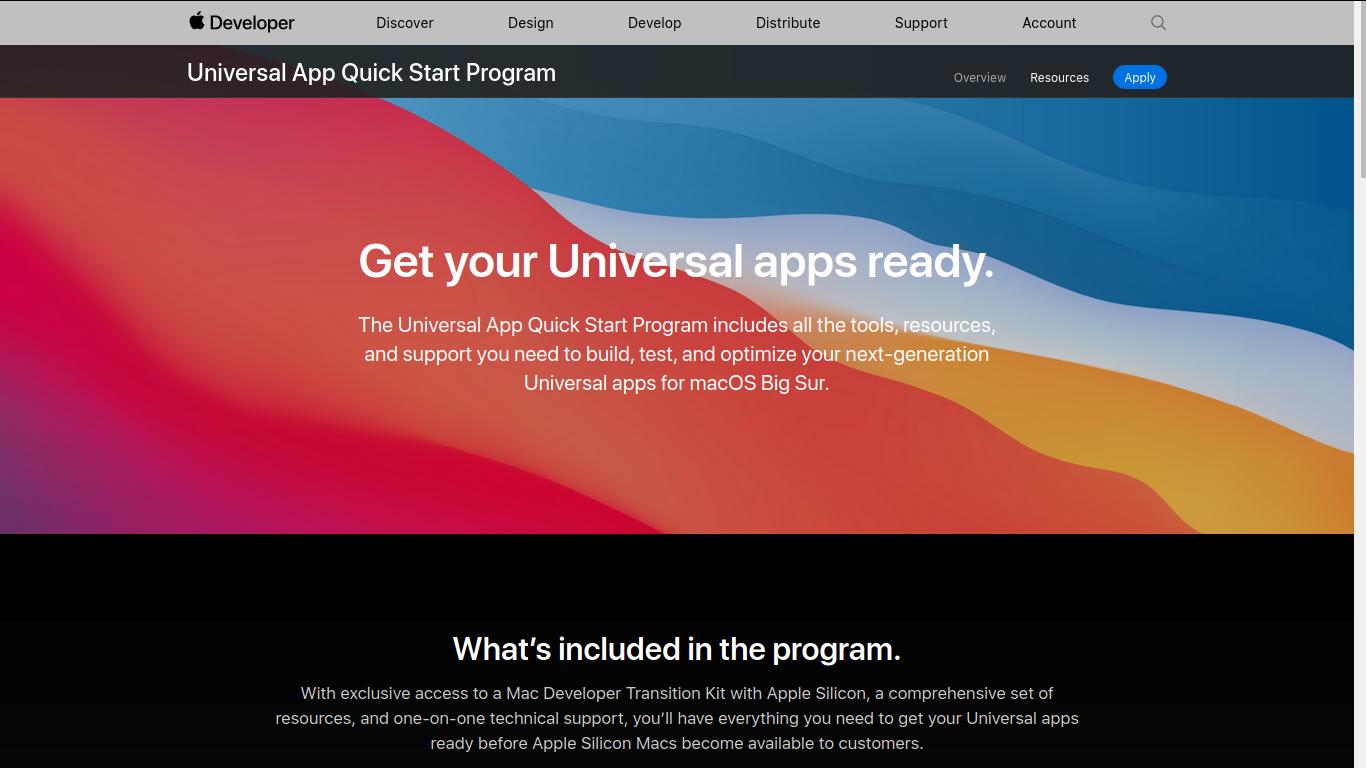 Apple Developer Transition Kit
